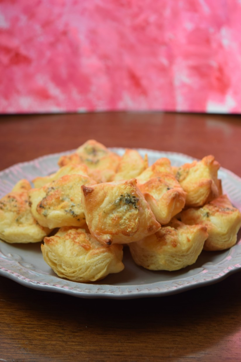 Perfect for Mother's Day or any time! Crumbly, buttery puff pastry combined with savory blue cheese. Serve as an appetizer at your next dinner party!