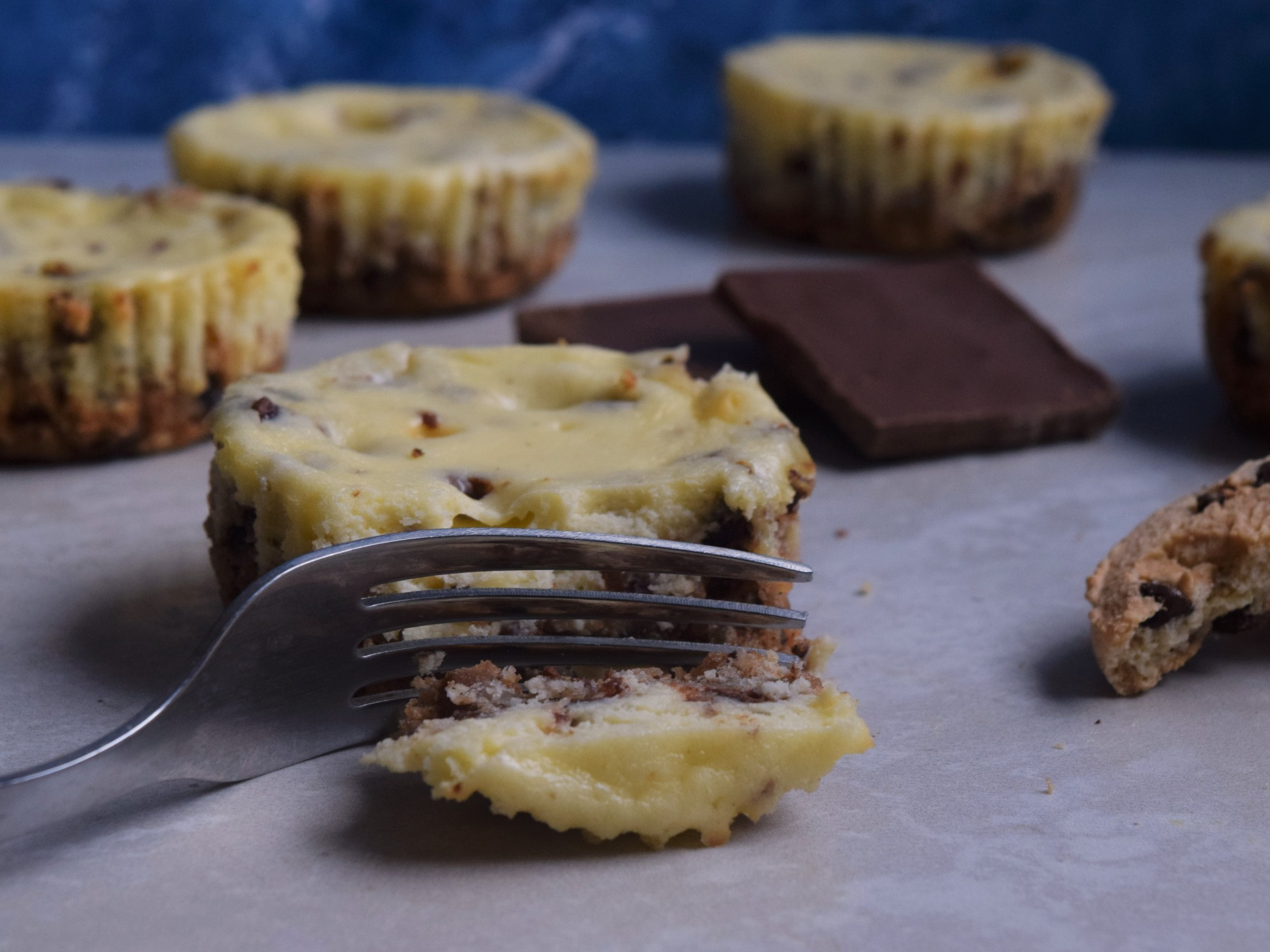 Indiviual Chocolate Chip Cheesecakes - perfect for when you want cheesecake, but don't want to make a whole cake