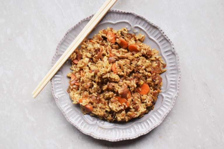 This easy, fast fried rice is made with pantry staples. You're about 20 minutes away from the perfect comfort food!