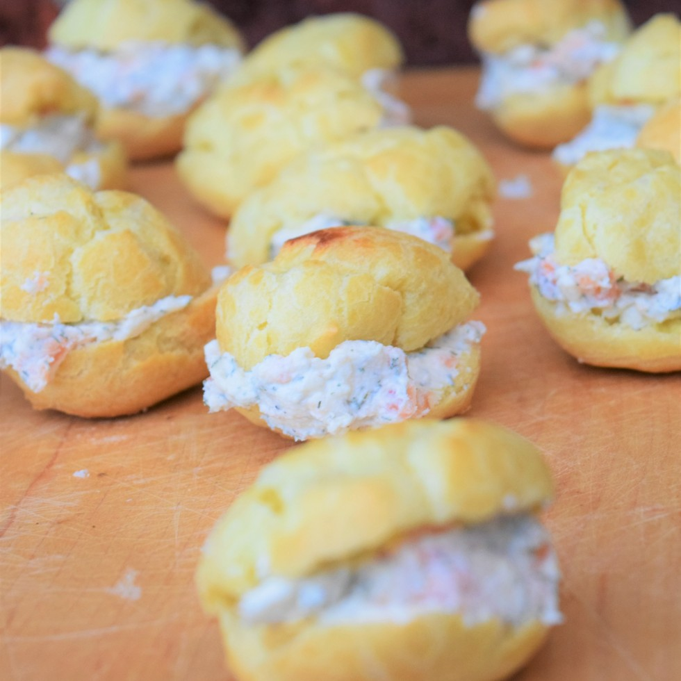 Smoked Salmon Cream Puffs - Perfect for your holiday parties!